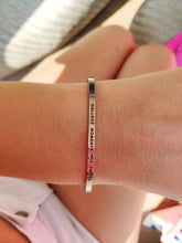 Load image into Gallery viewer, Mantra quote bracelet for women - Collect moments not things - Silver, Gold, Rose Gold - Travel Gift - Vagabond Life