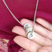 Load image into Gallery viewer, Engraved Country Ring Necklace - Collect Your Travels - Vagabond Life