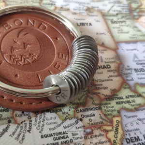 Engraved Country Ring Keychain - Collect Your Travels - Vagabond Life