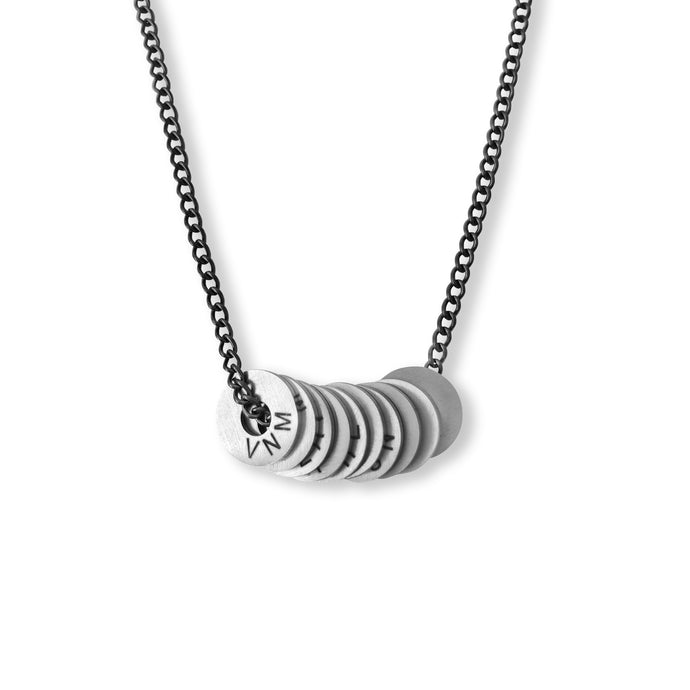 Twisted Dark Silver Necklace