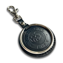 Load image into Gallery viewer, Black Vegan Key Chain