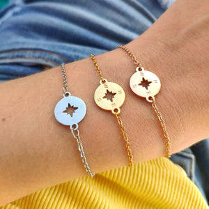 Compass Bracelet - Best Gift For Travel Girl- Vagabond Life