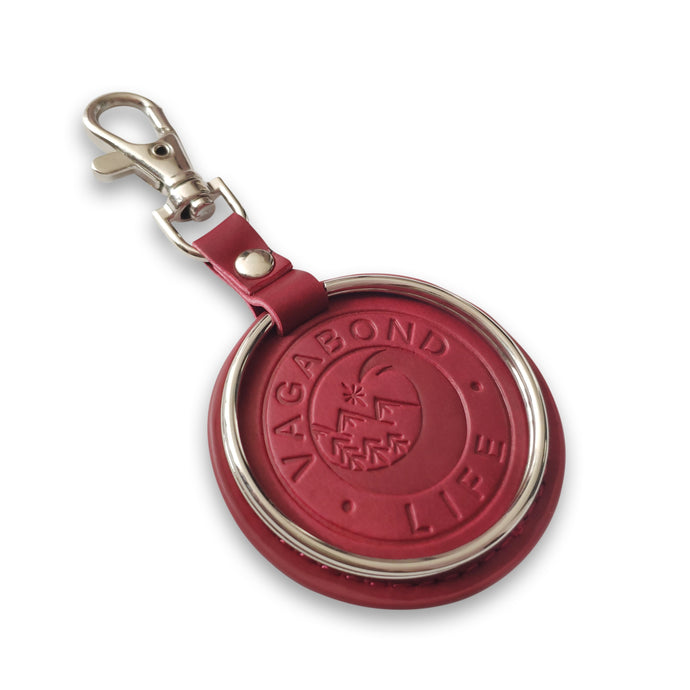 NEW - Dark Red Vegan Key Chain