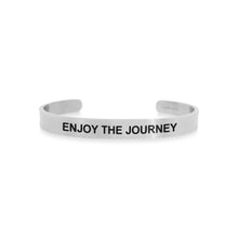 Load image into Gallery viewer, Mantra quote bracelet for men - Enjoy the journey - Silver - Travel Gift - Vagabond Life