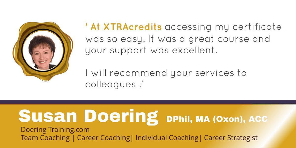 Dr. Susan Doering in the XTRAcredits Spotlight