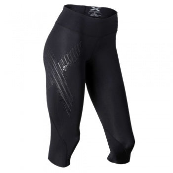Womens 2XU 3/4  Mid-rise Compression Tight