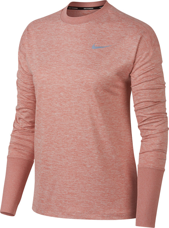 Womens Nike Element LS Top Crew