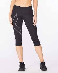 Women's 2XU Light Speed Mid-Rise Compression Tight (3/4)