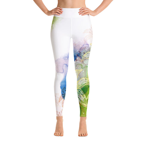 Dream Lily Yoga Leggings - Pure Vinyasa