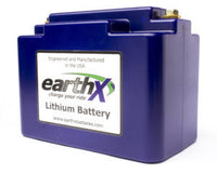 EarthX Lithium starting battery.