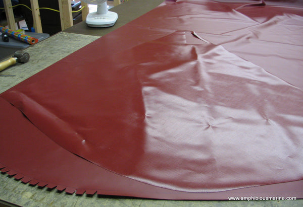 Vanguard hovercraft skirt, cut, ready to glue