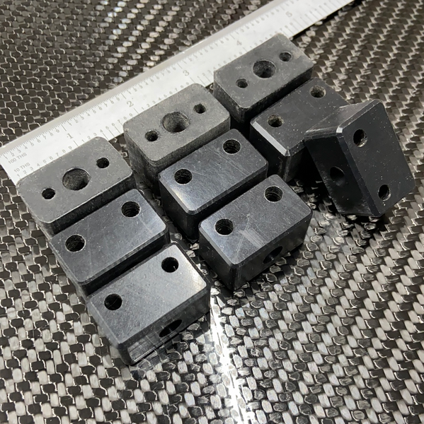 Rudder bearing/mounting block set, 3 sets