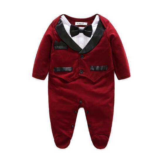 1d22ffddc527 Tuxedo 🤵 Jumpsuit Baby Boy (Available in Burgundy or Black) – My Little  Cool Kid