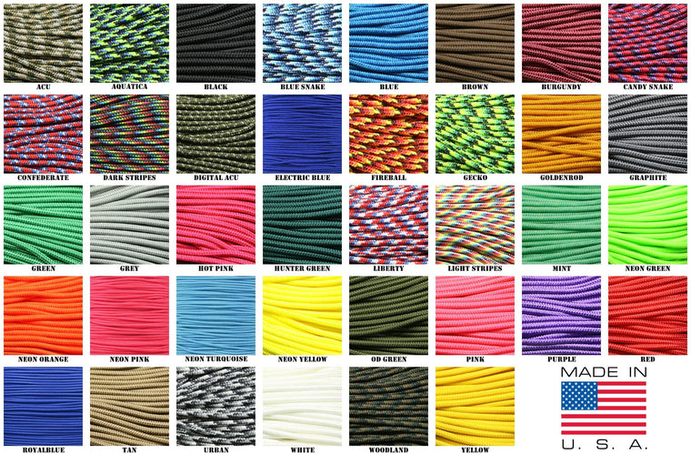 "275 Tactical Paracord 3/32"" X 100' - Shop Robbys"