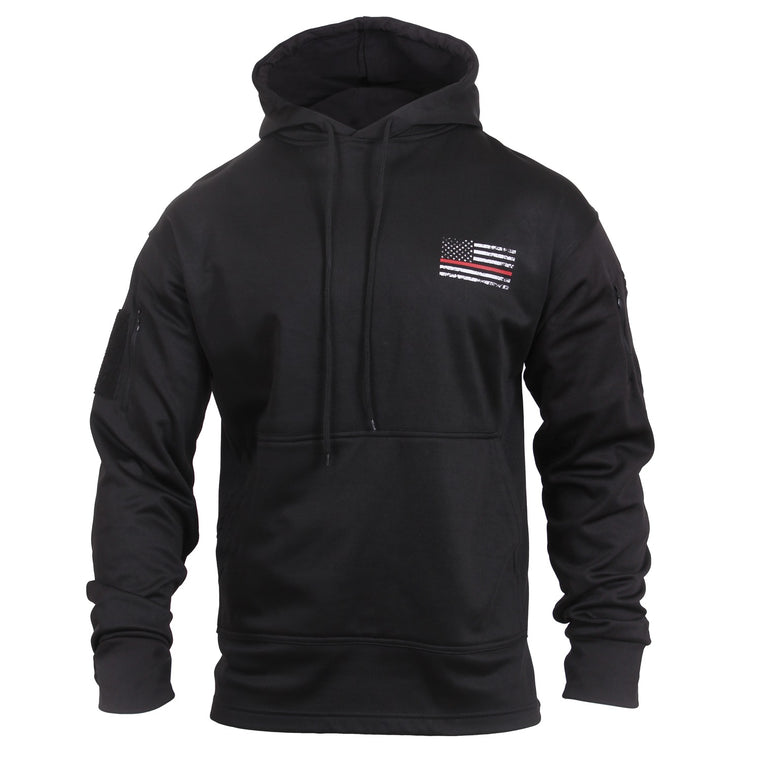 Rothco Thin Red Line Concealed Carry Hoodie Black