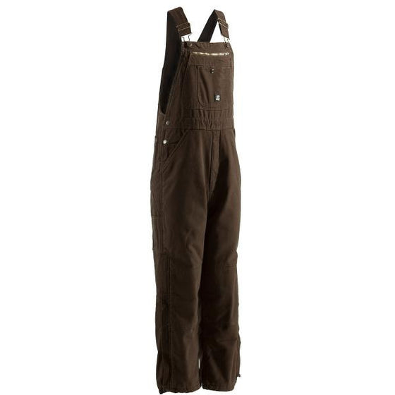 Berne Traditional Washed Bib Overall Bark -  - Shop Robbys
