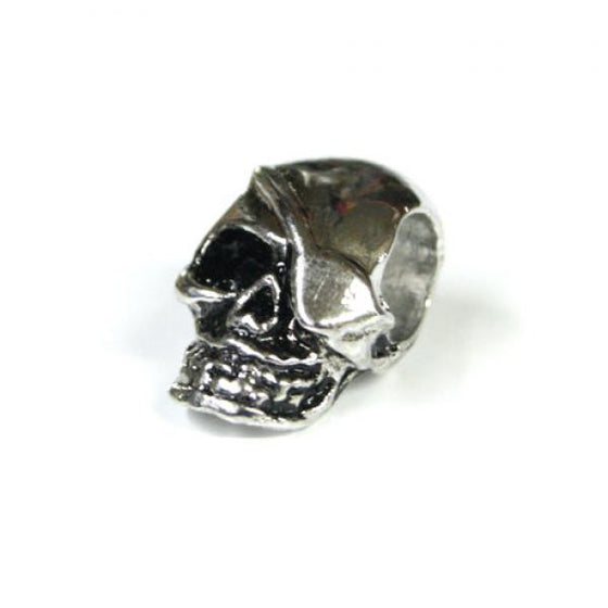 Pirate Skull Bead with Horzontal Hole -  - Shop Robbys