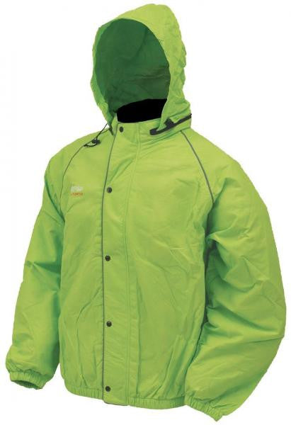 Frogg Toggs Road Toads Jacket Hi-Vis Green FT63132-48 - Shop Robbys