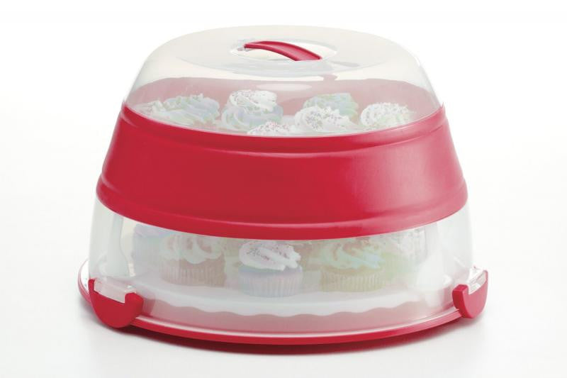 Progressive Prepworks Collapsible Cupcake / Cake Carrier Red -  - Shop Robbys - 1