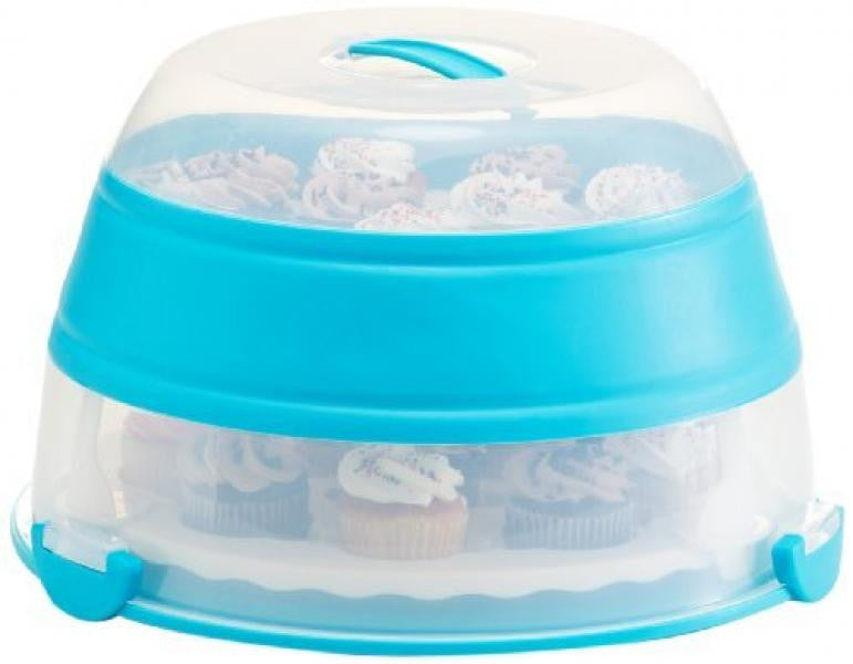 Progressive Prepworks Collapsible Cupcake / Cake Carrier Blue -  - Shop Robbys - 1