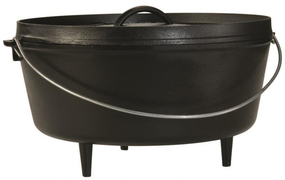"Lodge Logic Deep Camp Dutch Oven 14"" / 10-Quart L14DCO3 -  - Shop Robbys"
