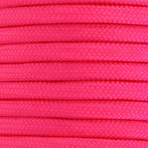 550 Paracord Solid Colors 50ft Hanks - Neon Pink - Shop Robbys - 35