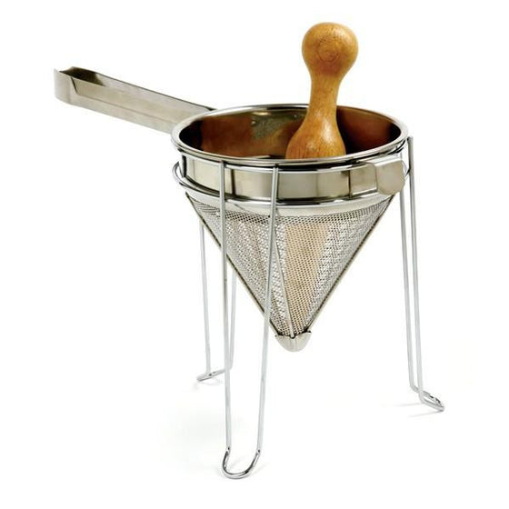 Norpro Stainless Chinois w/Stand and Wood Pestle -  - Shop Robbys - 1