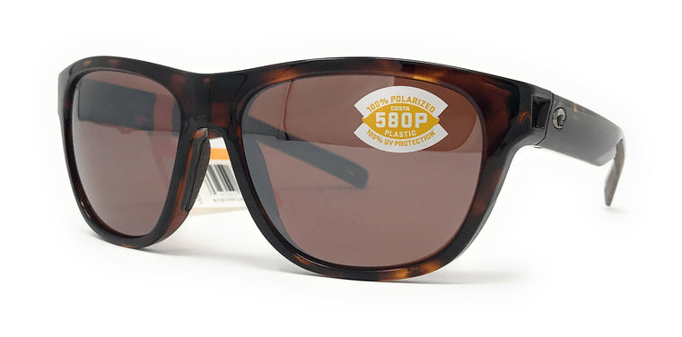 Costa Del Mar Bayside Shiny Tortoise / Silver Mirror Copper 580p BAY10OSCP