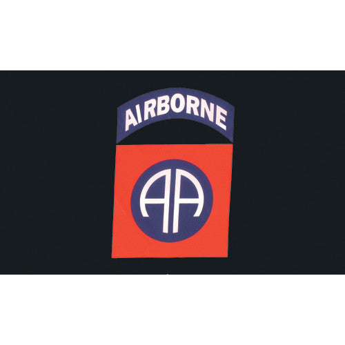 82nd Airborne Flag Black 3'x5' #84-123 - Shop Robbys