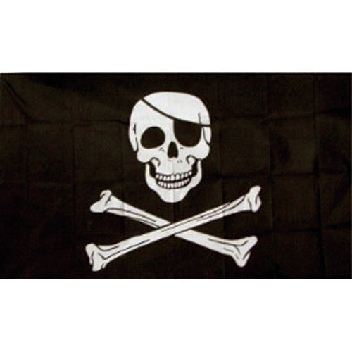 Jolly Roger w/Patch Flag 3'x5' #84-09 -  - Shop Robbys