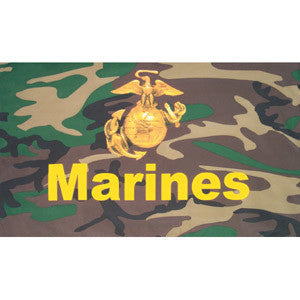 Camo Marines Flag 3'x5' #84-053 -  - Shop Robbys