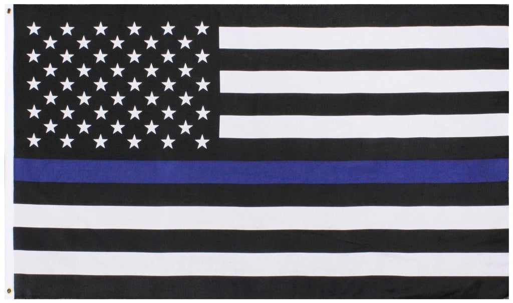 Thin Blue Line US Flag 3'X5' -  - Shop Robbys