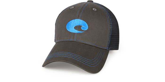 Costa Graphite Neon Trucker Hat HA55 - Neon Blue - Shop Robbys - 1