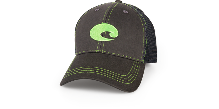 Costa Graphite Neon Trucker Hat HA55 - Neon Green - Shop Robbys - 3