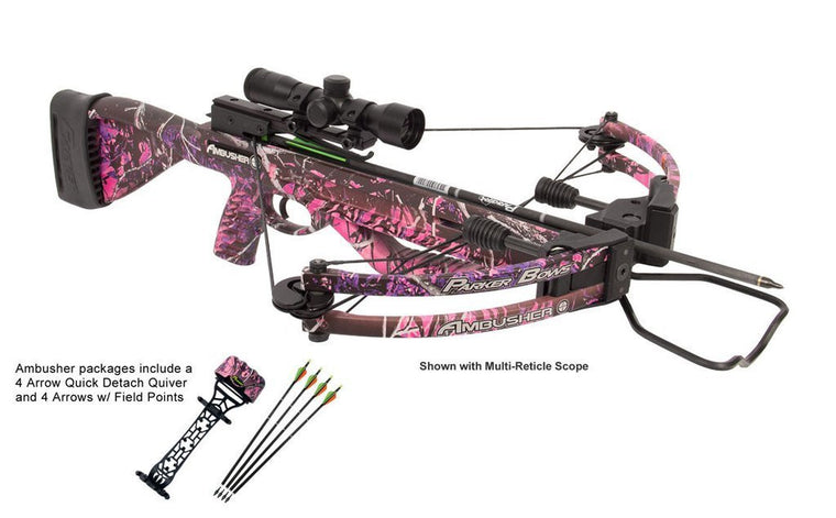 Parker Ambusher Pink w/ 4X Multi-Reticle Scope X311-MR -  - Shop Robbys