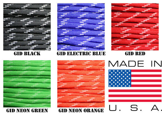 550 Paracord w/Glow in the Dark Strands 50ft or 100ft -  - Shop Robbys - 1
