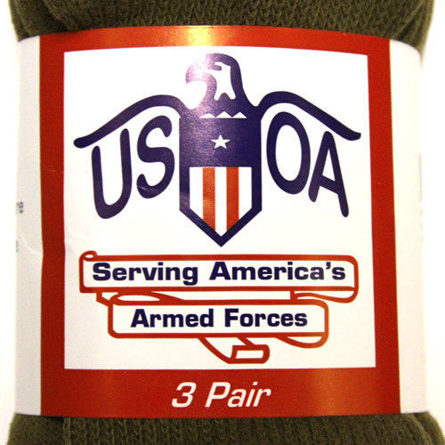 USOA Military Antimicrobial Crew Socks -  - Shop Robbys - 1