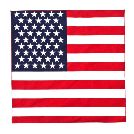 100% Cotton American Flag Bandana -  - Shop Robbys