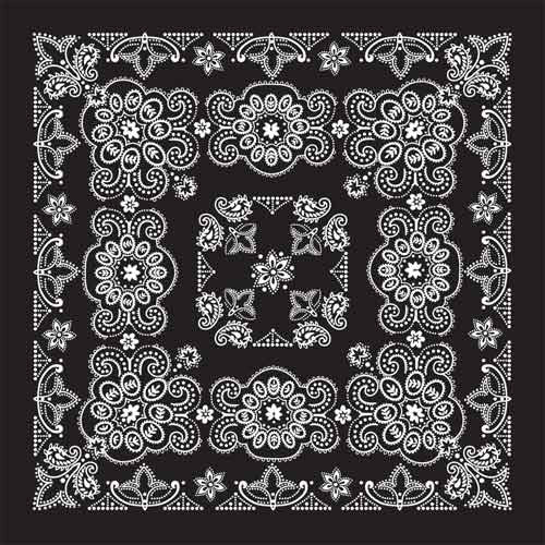 "100% Cotton Texas Size 27""X27"" Bandanas - Black - Shop Robbys - 2"