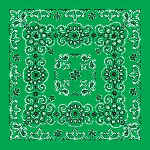 "100% Cotton Texas Size 27""X27"" Bandanas - Kelly Green - Shop Robbys - 3"