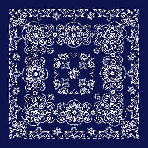 "100% Cotton Texas Size 27""X27"" Bandanas - Navy - Shop Robbys - 4"