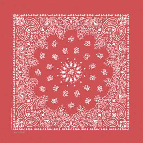 100% Cotton Stonewash Paisley Bandanas - Red - Shop Robbys - 4