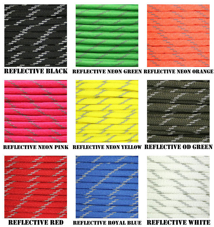 550 Paracord w/ Reflective Strands 50ft or 100ft -  - Shop Robbys - 1