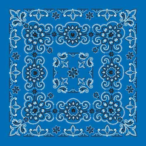 "100% Cotton Texas Size 27""X27"" Bandanas - Royal Blue - Shop Robbys - 6"