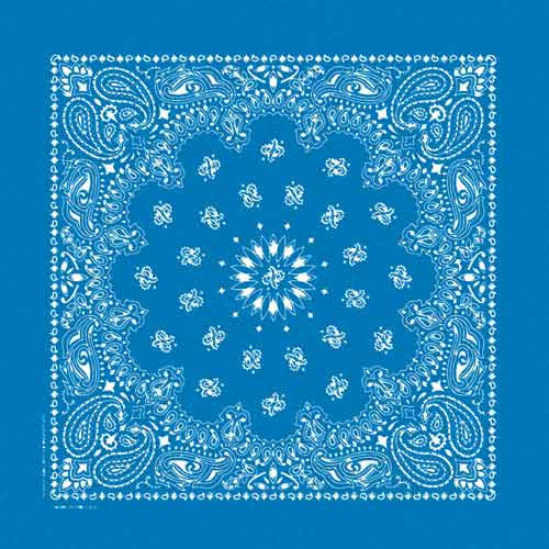100% Cotton Stonewash Paisley Bandanas - Royal Blue - Shop Robbys - 5