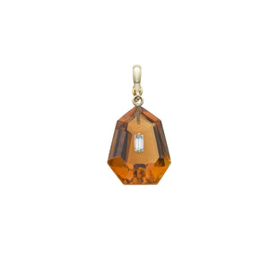 CITRINE DIAMOND PENDANT