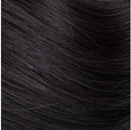 "Flat Clip-In 14"" Hair Extensions Natural Black"