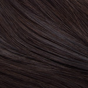 "Flat Clip-In 22"" Hair Extensions Darkest Brown"