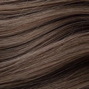 "Flat Clip-In 18"" Hair Extensions Light Ash Brown"