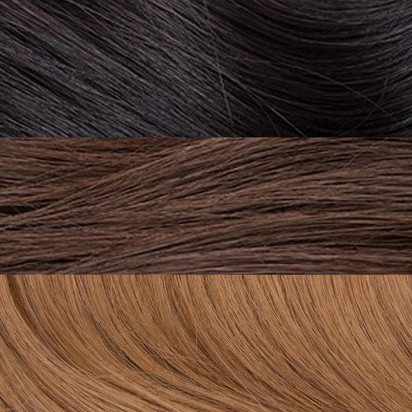 "E-Weft 22"" Hair Extensions Natural Black / Medium Golden Brown / Pale Ginger Blonde"